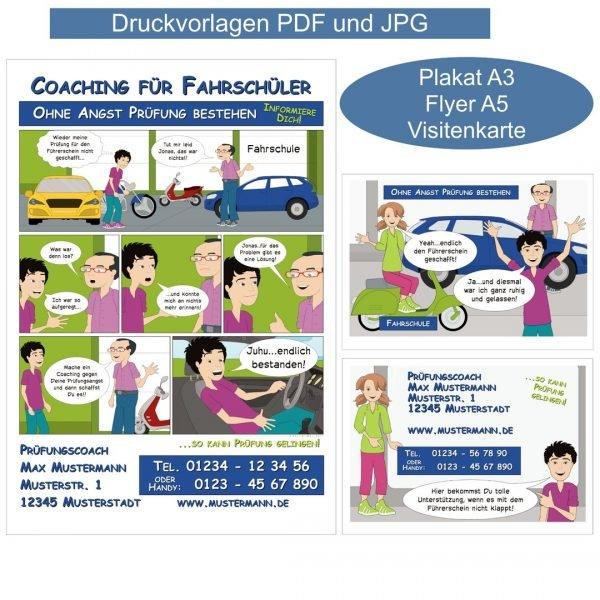 Coaching Material Tools Werbung Coaching für Fahrschüler Flyer