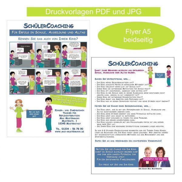 Coaching Material Werbung Tools Schülercoaching Flyer
